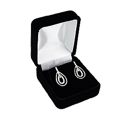 Black Velvet Earrings Box