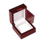 Cherry Wood Earrings Jewelry Box