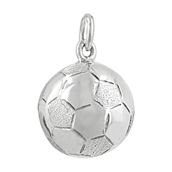 Sterling Silver 20mm Soccer Ball Jingling Pendant