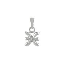 Sterling Silver Pisces Zodiac Symbol Pendant