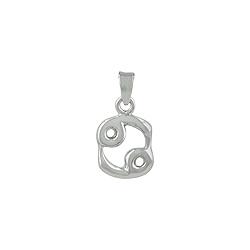 Sterling Silver Cancer Zodiac Symbol Pendant