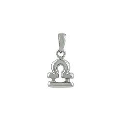 Sterling Silver Libra Zodiac Symbol Pendant