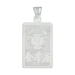 Sterling Silver Taurus-Bull Zodiac Symbol Tag Pendant