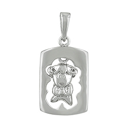 Sterling Silver Chinese Calendar Year of the Sheep Pendant