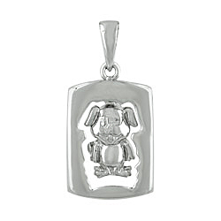 Sterling Silver Chinese Calendar Year of the Dog Pendant