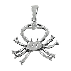 Sterling Silver The Crab Zodiac Sign Pendant