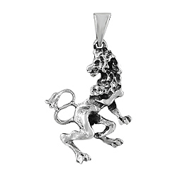 Sterling Silver The Lion Zodiac Sign Pendant