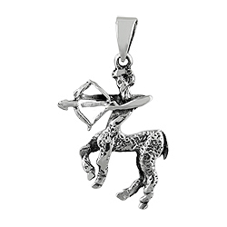 Sterling Silver The Archer Zodiac Sign Pendant