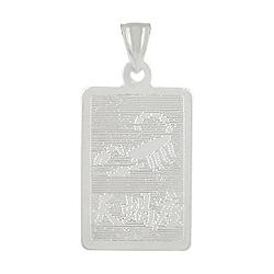 Sterling Silver Scorpio-Scorpion Zodiac Symbol Tag Pendant