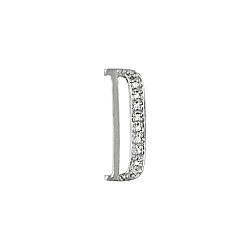 "Sterling Silver Pave CZ ""D"" Pendant"