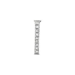 "Sterling Silver Pave CZ ""I"" Pendant"