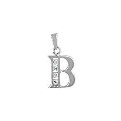 "Sterling Silver ""B"" Pendant"
