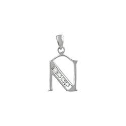"Sterling Silver ""N"" Pendant"