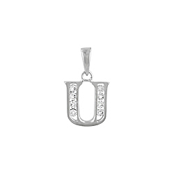 "Sterling Silver ""U"" Pendant"