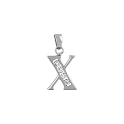 "Sterling Silver ""X"" Pendant"