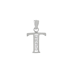 "Sterling Silver ""T"" Pendant"