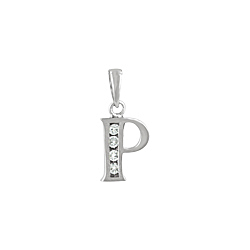 "Sterling Silver ""P"" Pendant"