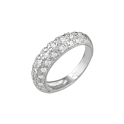 Sterling Silver Pave CZ Ring