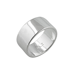 Sterling Silver 9mm Cigar Band