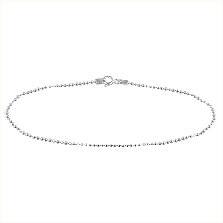 Sterling Silver 1.5mm Ball Chain Anklet