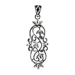 Sterling Silver Filigree Vines Pendant