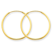 14K Gold 1.25x24mm Endless Hoop Earring