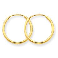 14K Gold 1.25x15mm Endless Hoop Earring