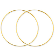 14K Gold 1.25x57mm Endless Hoop Earring