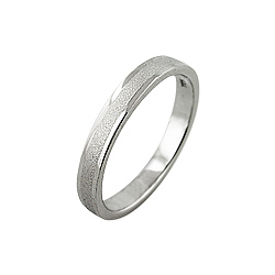 Sterling Silver 3mm Matte Finish Cigar Band