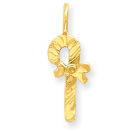 14K Gold Candy Cane Charm