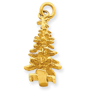 14K Gold 3-D Christmas Tree Charm