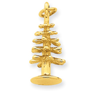 14K Gold 3-D Christmas Tree Pendant