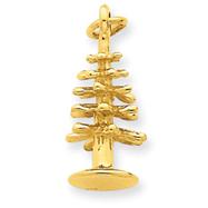 14K Gold 3-D Christmas Tree Pendant