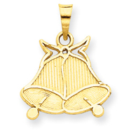 14K Gold Wedding Bells Pendant