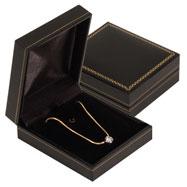 Leatherette Flat Pendant Goldtrimmed Box
