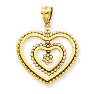 14K Gold Polished Heart Pendant
