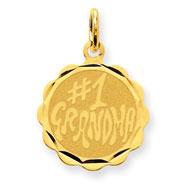 14K Gold #1 Grandma Disc Charm