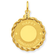 14K Gold Happy Anniversary Charm