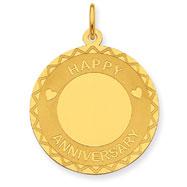 14K Gold Happy Anniversary Charm
