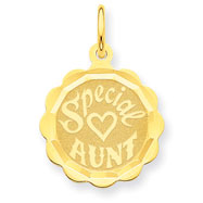 14K Gold  Special Aunt Charm