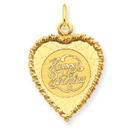 14K Gold Happy Birthday Charm