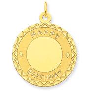 14K Gold Happy Birthday Charm