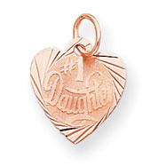 14K Rose Gold #1 Daughter Charm