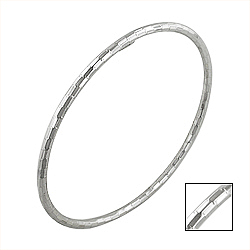 Sterling Silver 3mm Multifaceted Bangle