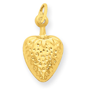14K Gold Strawberry Charm