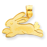 14K Gold Rabbit Charm