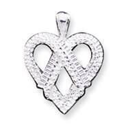 Sterling Silver Fancy Heart Charm
