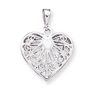 Sterling Silver Fancy Heart Charm