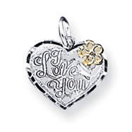 Sterling Silver I Love You Heart Charm