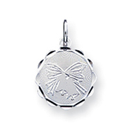 Sterling Silver Wedding Bells Disc Charm